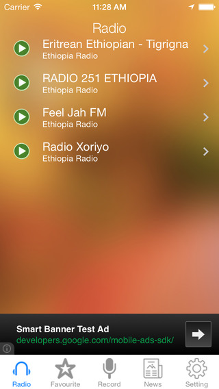 Ethiopia Radio News Music Recorder