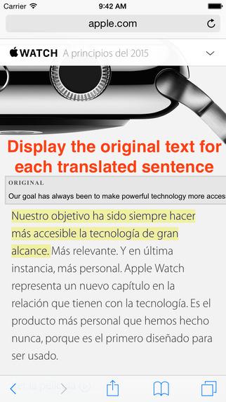 TranslateSafari - Translate & Speak Extension for Safari Screenshots