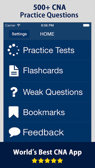 CNA Exam Prep Study Guide - Questions Answers Flashcards for Certified Nursing Assistant test 2015