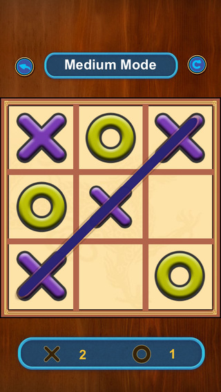 Tic Tac Toe - Connecting Threes Square in a Row