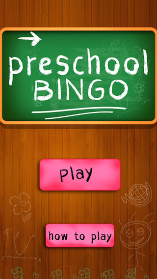 Preschool Education Bingo