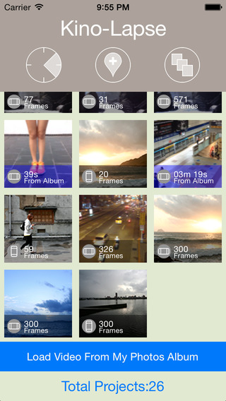 Kino-Lapse Lite Easiest Time Lapse and Stop Motion App with Filter Effects.