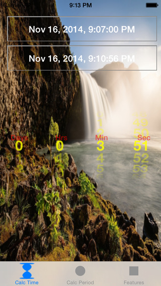 Time Calc Timer - Calculate period between two dates and optionally set a timer.