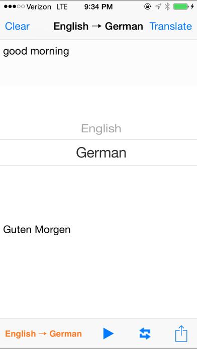 English German Translator with Voice iPhone Screenshot 1