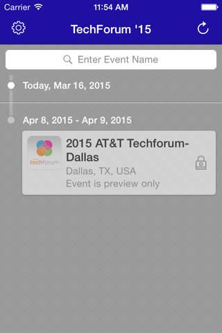 2015 TechForum – Attendees screenshot 1