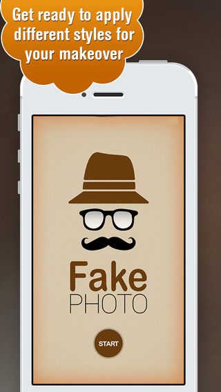 Fake Photo Booth - Make Your Funny Virtual Photo Makeover with Using Mustache Glasses from Live Augm