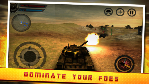 Tank War Attack - Third first person split tank navigation with war style gameplay against mighty pa