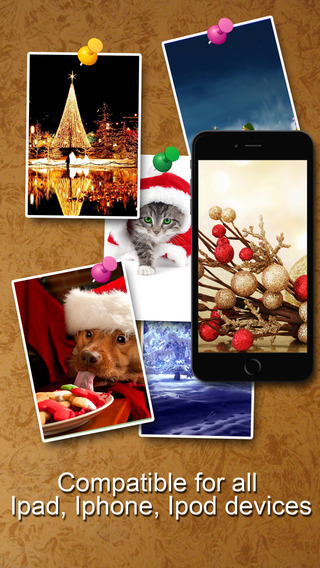 Christmas 2014 wallpaperHD - support iPhone 6 6s 4 4s iPad and iOS 8
