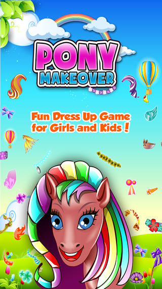 Pony Makeover - Pretty Pet Dress Up Salon Games For Girls and Kids
