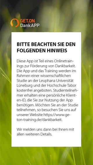 GET.ON DankApp Studienversion