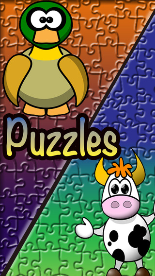 Kids dog cat puzzle games