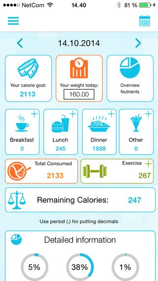 Calorie Counter and Weight Loss Watcher