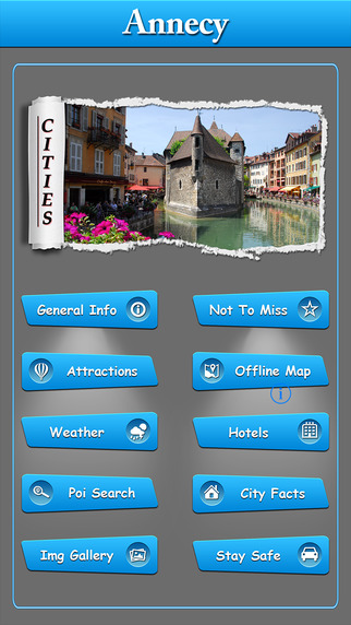 Annecy Offline Map Travel Explorer