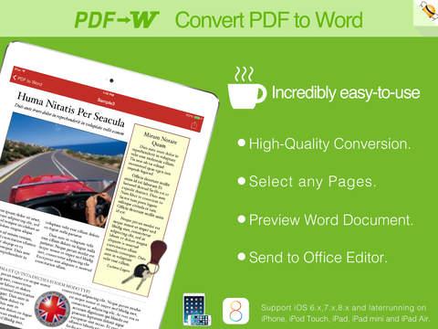 玩免費商業APP|下載PDF to Word by Feiphone app不用錢|硬是要APP