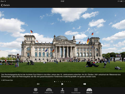 Deutscher Bundestag iPad Screenshot 5