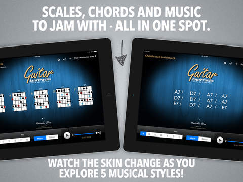 Guitar Jam Tracks - Scale Trainer & Practice Buddy
