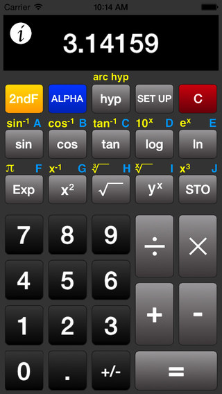 ACalc - Free Scientific Calculator for iPhone iPad and iPod Touch