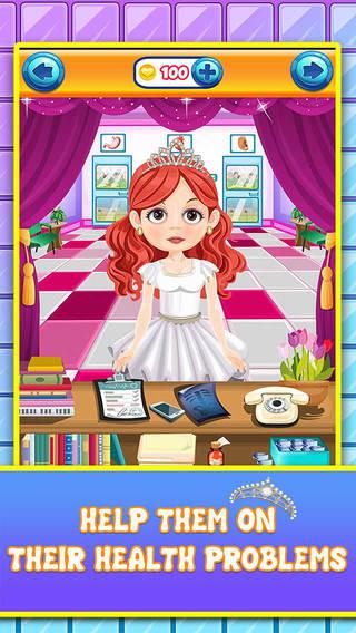 Princess Salon Surgery Doctor - simulator surgeon spa games for girls