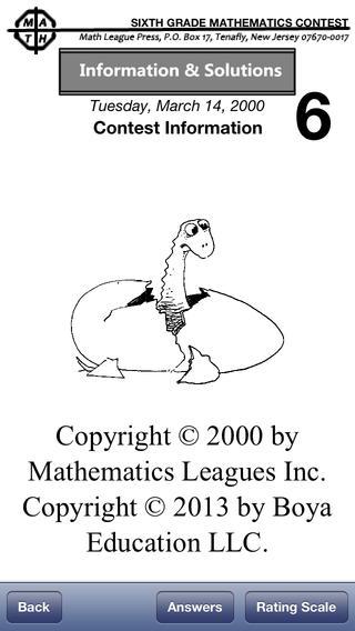 Math League Contests Solutions Grade 6 1995-2000