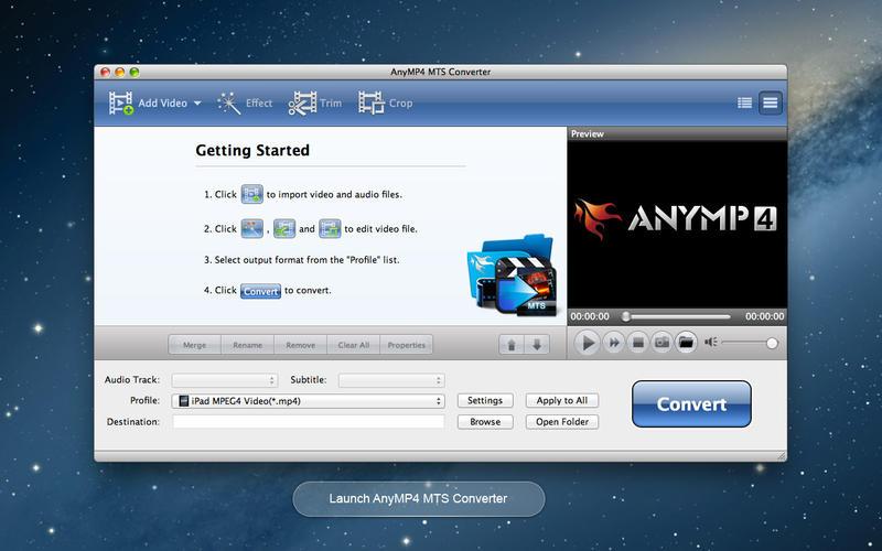 AnyMP4 MTS Converter Screenshot - 2