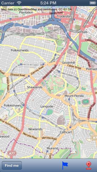 Glasgow Street Map.