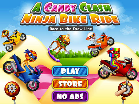A Candy Clash Ninja Bike Ride – Race to the Draw Line at Mt. Rush