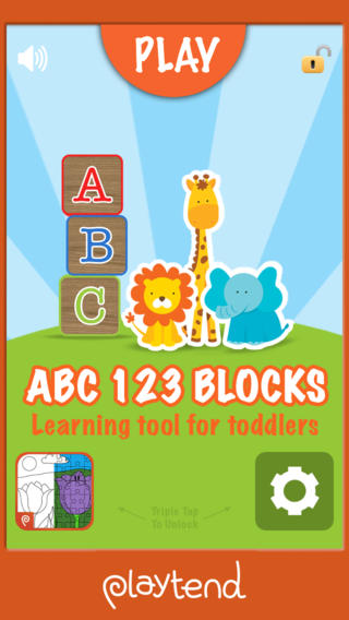 ABC 123 Blocks = Learning Tool For Toddlers iPhone Screenshot 1