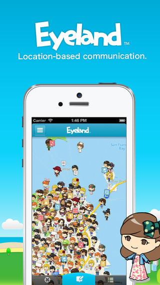 Eyeland-透過聊天 發文及地圖的交流平台。