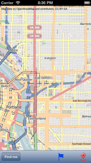 Portland Street Map.