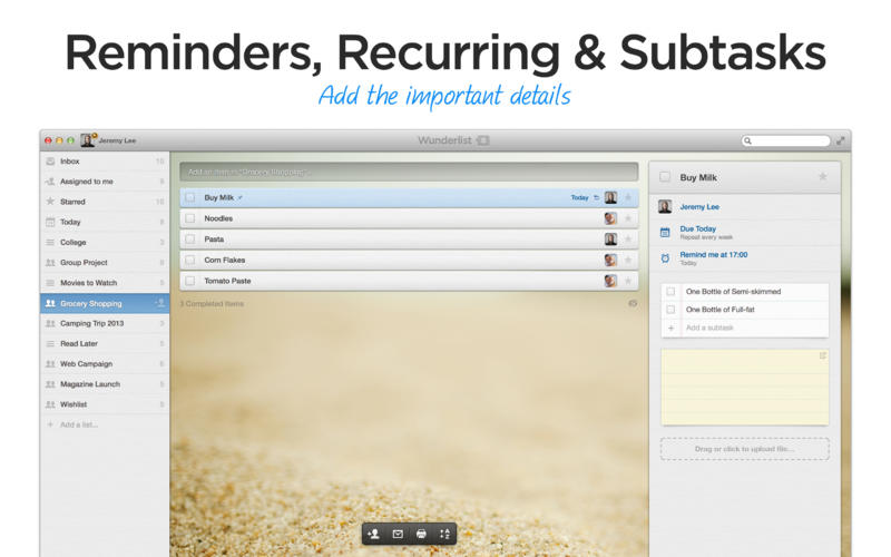 Wunderlist Screenshot - 2