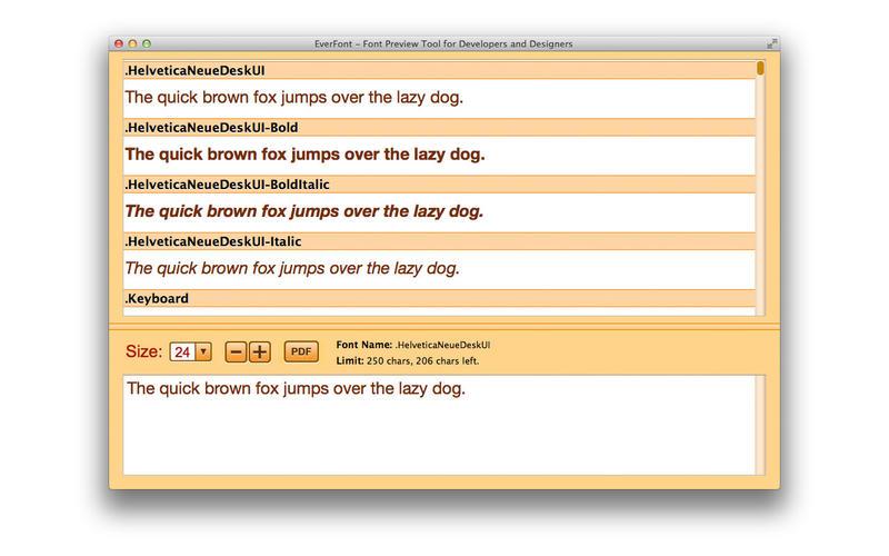 EverFont PRO – 字体预览工具[OS X]丨反斗限免