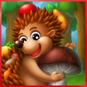 Hedgehog's Adventures: interactive story for kids of 4-6 years of age with educational games for Mac icon
