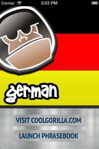 German Talking Phrasebook screenshot 1