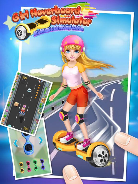Girl Hoverboard Simulator - Makeup & Dressup Salon Game FOR FREEscreeshot 1