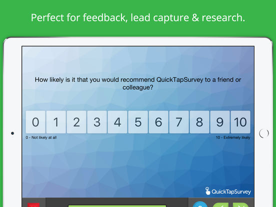 QuickTapSurvey iPad Screenshot 3