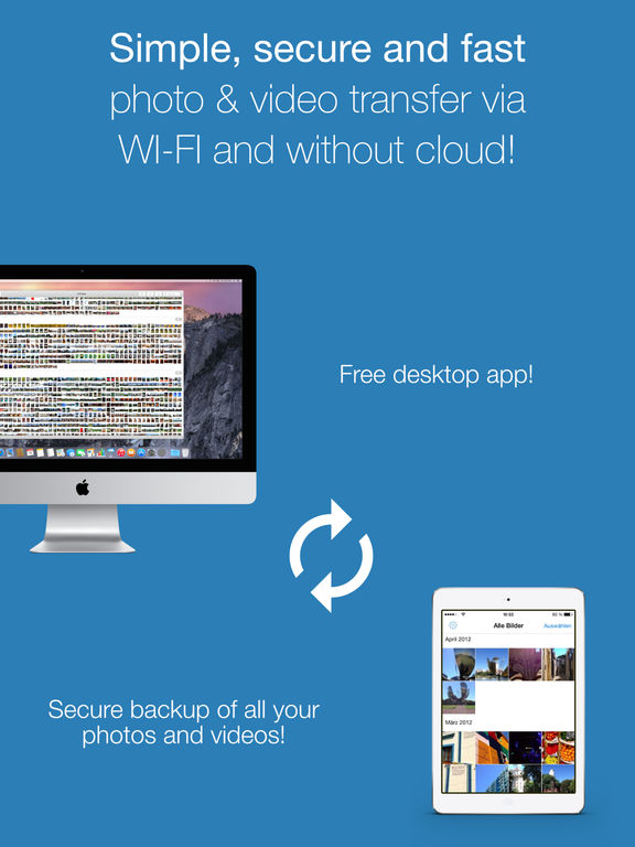 PhotoSync Pro: wifi photo & video transfer + sync Screenshots
