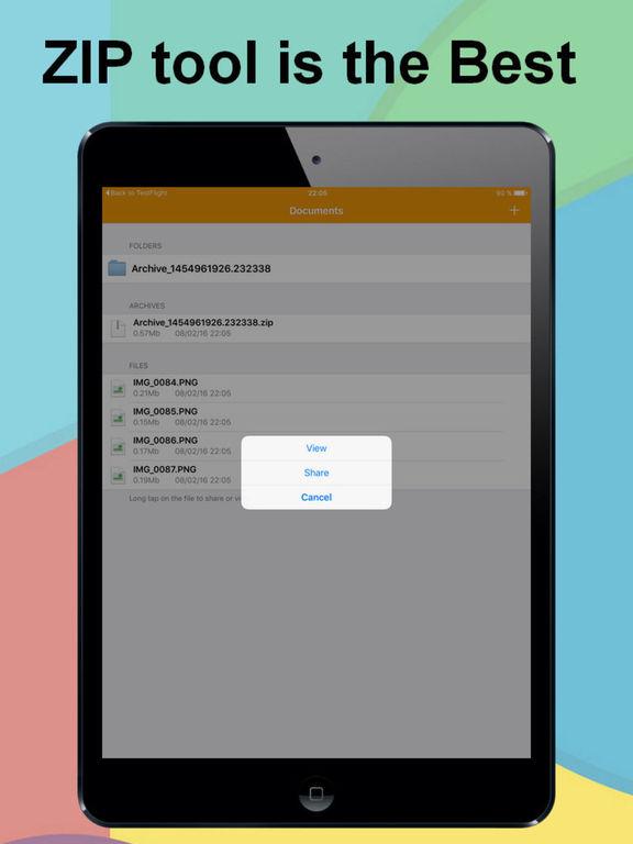 ZIP UnZIP Archiver App and Browser Screenshots