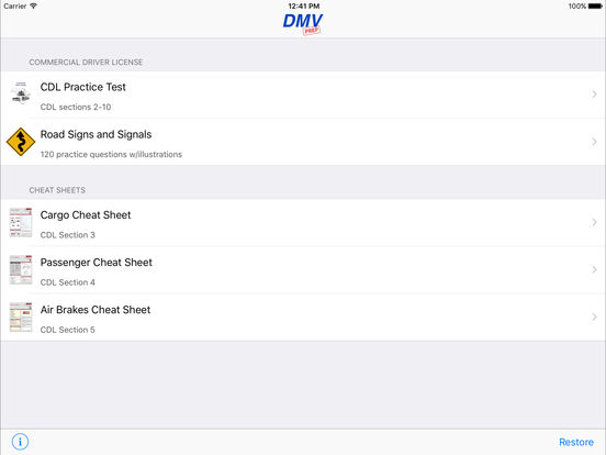 CDL Test Prep Pro (Commercial Driver's License) iPad Screenshot 1