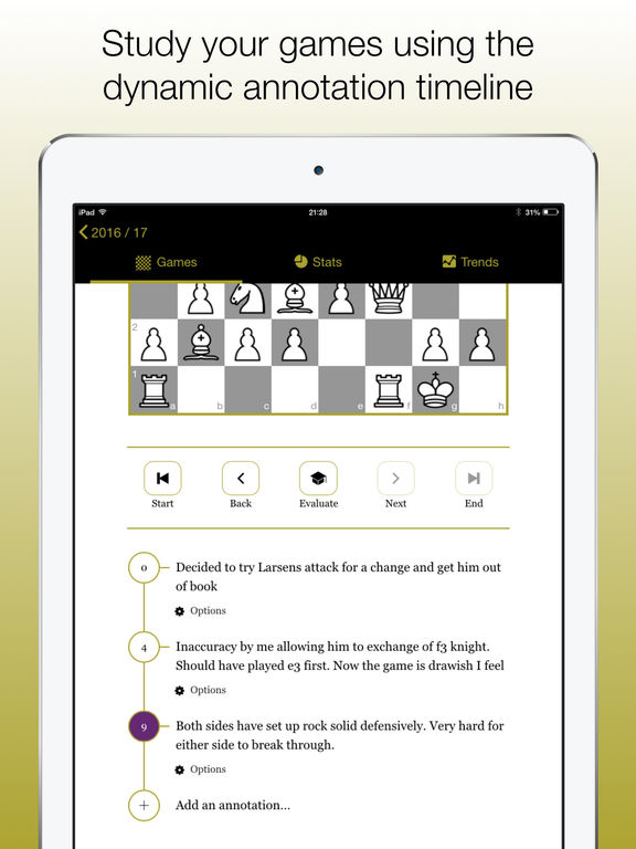 ChessJournal - Your chess diary Screenshots