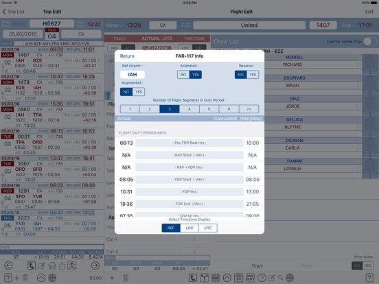 FltCrew-iLog ... Airline Crew Logbook iPad Screenshot 5