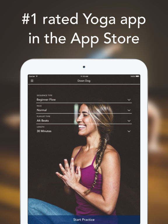 Down Dog App: A Yoga Studio in Your Pocket with Daily Vinyasa Practices and Matching Music screenshot