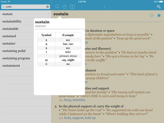 LexicEN English Dictionary & Thesaurus iPad Screenshot 3
