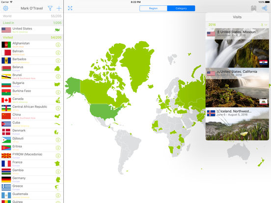 Mark OTravel your travel map Where youve been on the App Store – Travel Mapping Software
