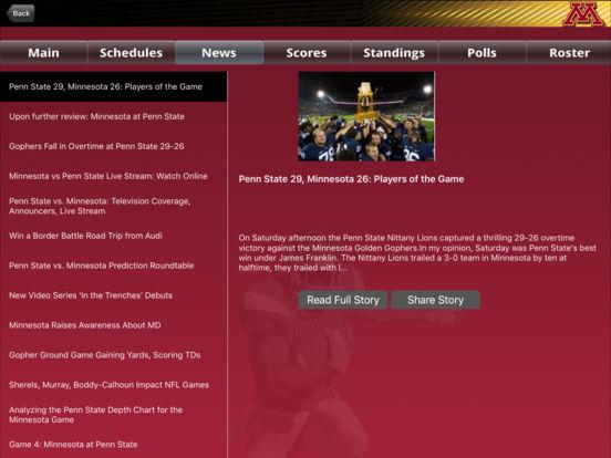 Minnesota Gophers College SuperFans iPad Screenshot 3