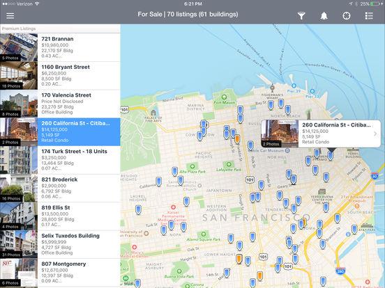 LoopNet Commercial Real Estate Search iPad Screenshot 1