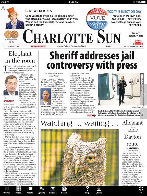 Charlotte sun newspaper personals