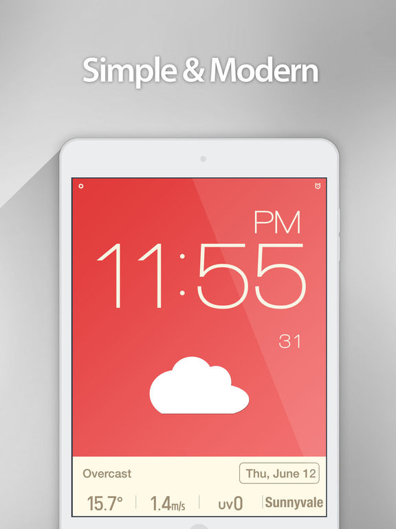 Red Clock - The Minimal Alarm Clock Screenshots