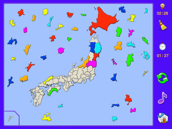 Japan Puzzle Map iPad Screenshot 1