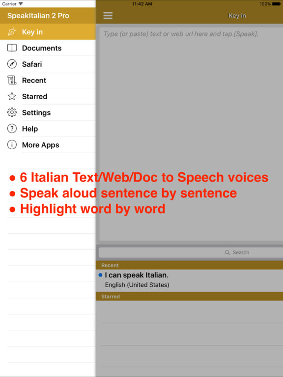 SpeakItalian 2 (6 Italian Text-to-Speech) Screenshots