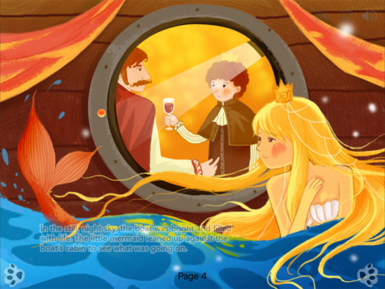 The Little Mermaid - bedtime fairy tale Interactive Book iBigToy screenshot